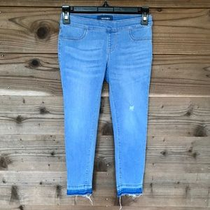 Old Navy Let-Down Hem Pull-On Crop Skinny Jeans 8